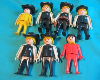 Geobra 1976 Playmobil Set Lego People, Lego Sets, Small Plastic People For Lego Fun, Lego Set Serveral People, Play Set, People Toy Set