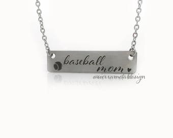 Baseball Mom Necklace Best Mom Ever Gift From Kids Mom Life Good Life Mothers Day Best Kids Ever Birthday Jewlery Accessory