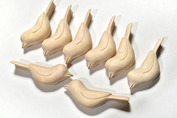 Wooden birds wood sculpture unfinished bird carvings