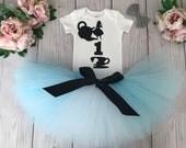 Alice In Wonderland Birthday Outfit | 1st Birthday Tutu | 1st Birthday Dress | Alice Costume | Teacup | Alice in OneDerLand Tutus