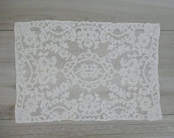 Beautiful French Lace Doily Doilie Cotton