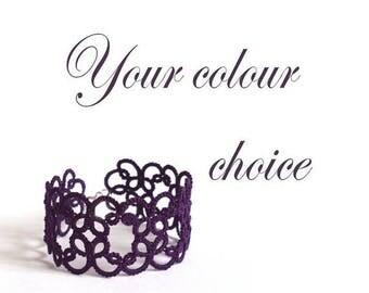 Custom Lace Bracelet - Your Colour Choice - Christina