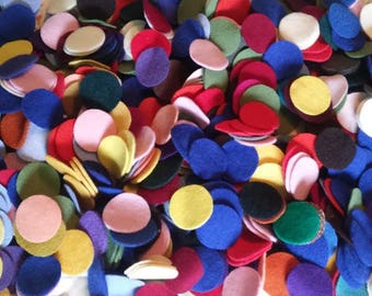 """110 1&1/2"""" New colors added Wool penny rug circles"""