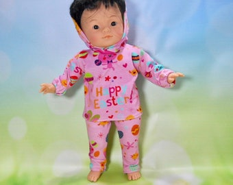 """14 inch toddler doll clothes, 14 inch toddler Easter outfit, Fits dolls like Little Mommy, Corollle 14"""" toddler doll, My Life, 02-2737"""