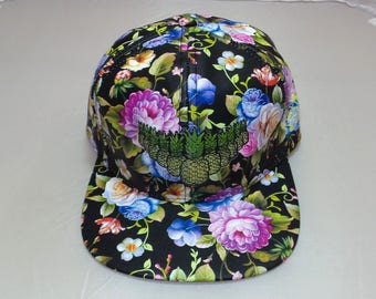 Snapback Flat-Brim Hat - La Vida Piña (One-of-a-kind)