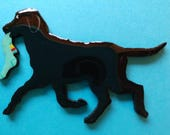 Labrador Retriever Pin, Magnet or Ornament -Color Choice -Free Shipping -Hand Painted