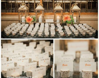 Reserved - 75 Birch Branch Stump Place Card Holders
