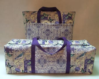 Purple Mosaic Garden Print Carrying Case for the Silhouette Cameo 1 or 2 / Cricut Expression Machine / Accessory-Laptop Bag /  Combo Set