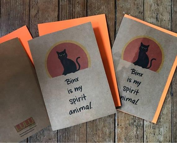 Binx is My Spirit Animal -Halloween Card