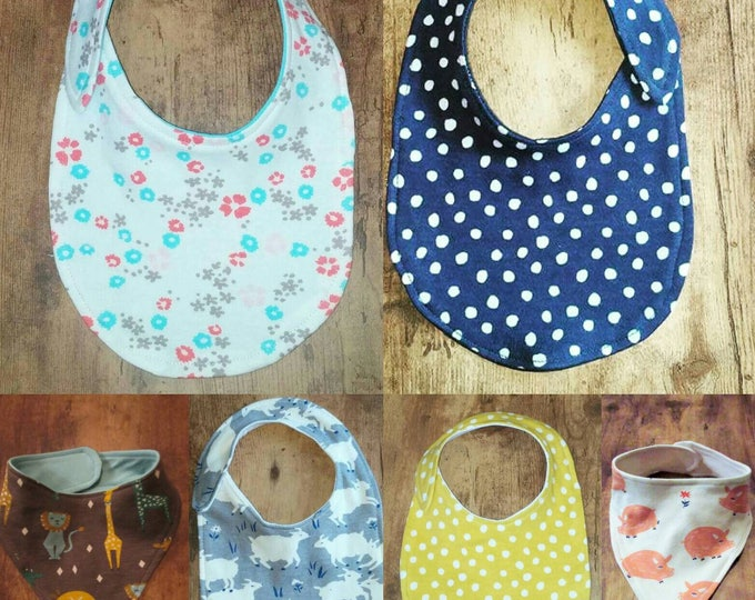2 Pack Organic Cotton Mix and Match Baby Bibs