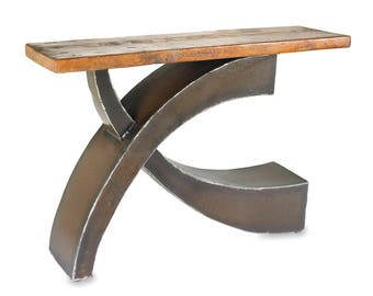 Counterbalance Wood and Metal Console Table