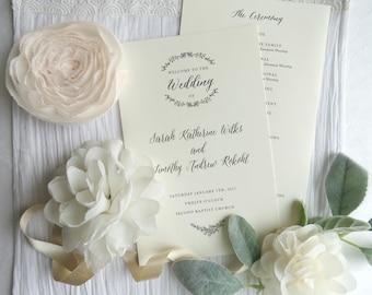Printed Wedding Programs GARDEN COLLECTION | wedding programs  |  ceremony program  |  programs -  Style P101