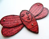Butterfly Wall Art/ Bug Wall Art/ Butterfly Wall hanging/  Insect Wall Art/ Red Bug Wall hanging/ Quirky Wall Decor/ Moth Wall Art/ Red Bug