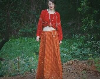 Gypsy Skirt / Maxi Skirt / Cotton Skirt / Plus Size / Boho Skirt / Hippie Skirt / Festival Clothing / Indian Skirt / Summer Skirt