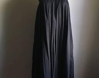 SUMMER SALE Deadstock Black Cotton Dress • Cotton Tent Chic  Dress • Boho Dress •  Free Size