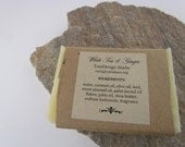 White Tea and Ginger Handcrafted Soap, luxury artisan soap mother's day present unique fragrance bath product unisex fragrance moisturizing