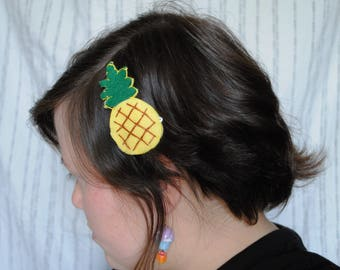 Pineapple Hair Clip or Brooch Pin
