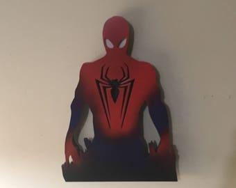 Spiderman Inspired Illuminated Sign