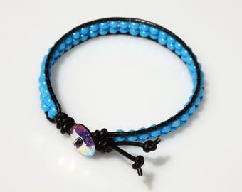 Wrap Beaded Bracelet - Glass Beeds Bracelet - Friedship Bracelet - Teen Bracelet - Summer Bracelet - Hippie Bracelet - Boho Bracelet