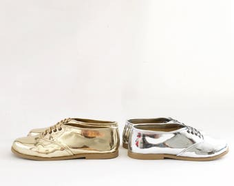 Pony Oxford Mirrored Metallic Thick Sole (Handmade to order)