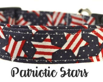 Patriotic Stars - Patriotic Dog Collar