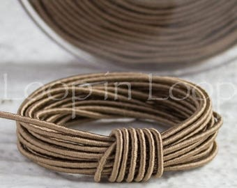 25%OFF Taupe SILK cord, Wrapped Silk Satin Cord rope 1.5 mm thick, organic natural hand spun silk, polyester core, for Jewelry (3 feet)
