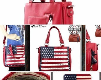 Montana West American Bag and wallet