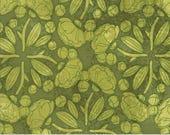 Green Floral Fabric - Blushing Peonies Meadow - Moda 48612 17 - Green Tone on Tone Fabric - 1 Yard Cut BTY - Robin PIckens