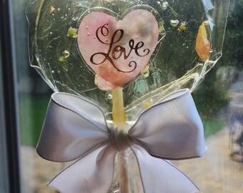 Rose Tea Lollipops-  Birthday Lollipops- Bridal Shower Favors- Wedding Lollipops- Hard Candy