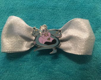 Ursula from Disney's The Little Mermaid on a hairbow clip