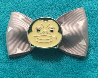 Jabba the Hutt from Star Wars on a hairbow clip