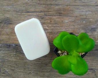 Natural fragrance free soap- Dye free soap- white glycerin soap-Delicate skin care-Sensitive skin-Baby soap-Naked bath