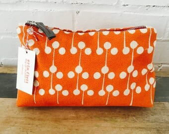 Orange Lolli Pop Make Up zipper bag, Ready To Ship Now