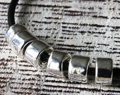 6x4mm Silver Tube Beads - Mykonos Mini Tube Beads - Mykonos Beads - Jewelry Making Supplies - Large Hole Silver - Choose Amount