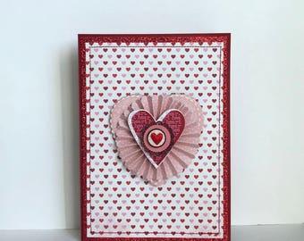 Valentine Love Handmade Card