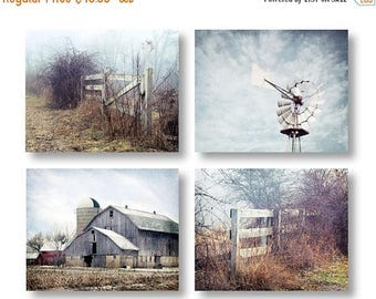 Country Farmhouse Wall Decor, Landscape Photography, Barn Photo, Modern Farmhouse Landscape Prints, Windmill Photo Rustic Country Home Decor