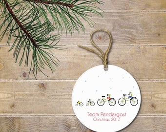 Personalized Christmas Ornament, Christmas Ornament, Bicycle Christmas Ornament, Christmas Lights, Personalized Christmas Ornament