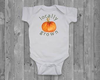 Baby onesie - Locally grown pumpkin