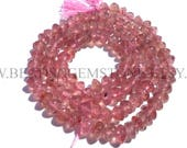 AA Quality Natural Strawberry Quartz African Rondelle Smooth beads, (4.50 to 5.50), STR-010, Semiprecious Gemstone Beads, Craft Supplies