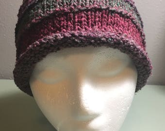 Silky Rib Fall Winter Handknit Hat