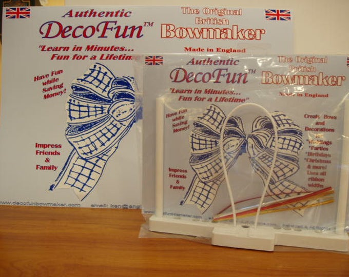 DecoFun Bow Maker Basic Kit FLAT Pack: DIY beautiful, easy, quick ribbon bows in minutes. Use the DecoFun Bow Maker Tool with ALL ribbons!
