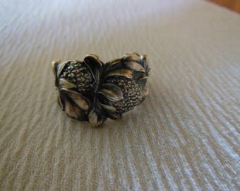 Reserved for L.R.  Antique Spoon Ring  Sterling Silver