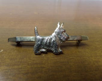 Vintage 1950's  Scottie Dog Pin