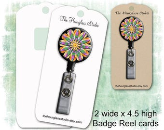 Reel Holder Card, Badge Reel Cards, Reel Holders, Lanyard Display Cards, Custom Reel Display, Display Cards, Personalized