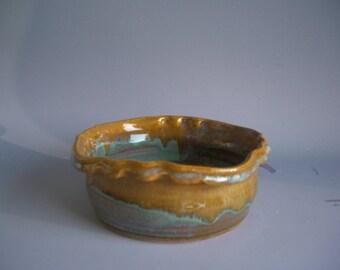 Hand thrown stoneware pottery small bowl  (B-25)