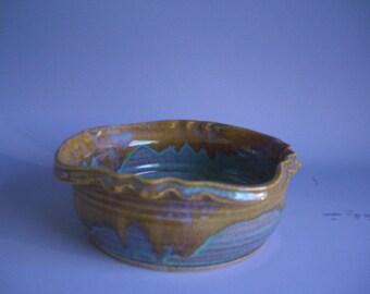 Hand thrown stoneware pottery small bowl  (B-26)