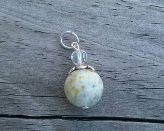 Natural Yellow Opal Pendant