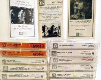 15 MHS Musical Heritage Society Classical Music Cassettes Beethoven Schubert Mozart Bach + More