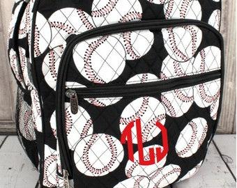 Monogrammed Baseball Backpack