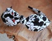 Mickey Headband, Bow Headband, Headband with Wire, Womens Headband, Disney Headband, Disneyland Headband, Adult Headband